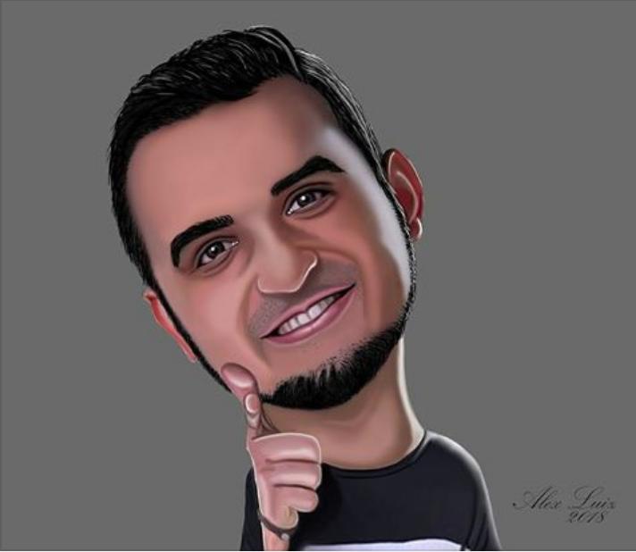 Caricatura do Thiago Ventura