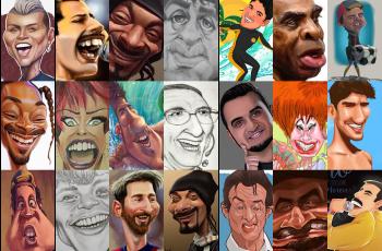 desafio ilustre praticar caricatura