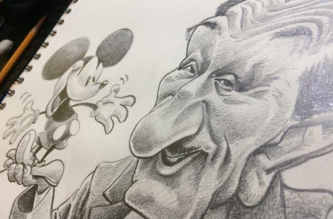 Caricatura de Walt Disney