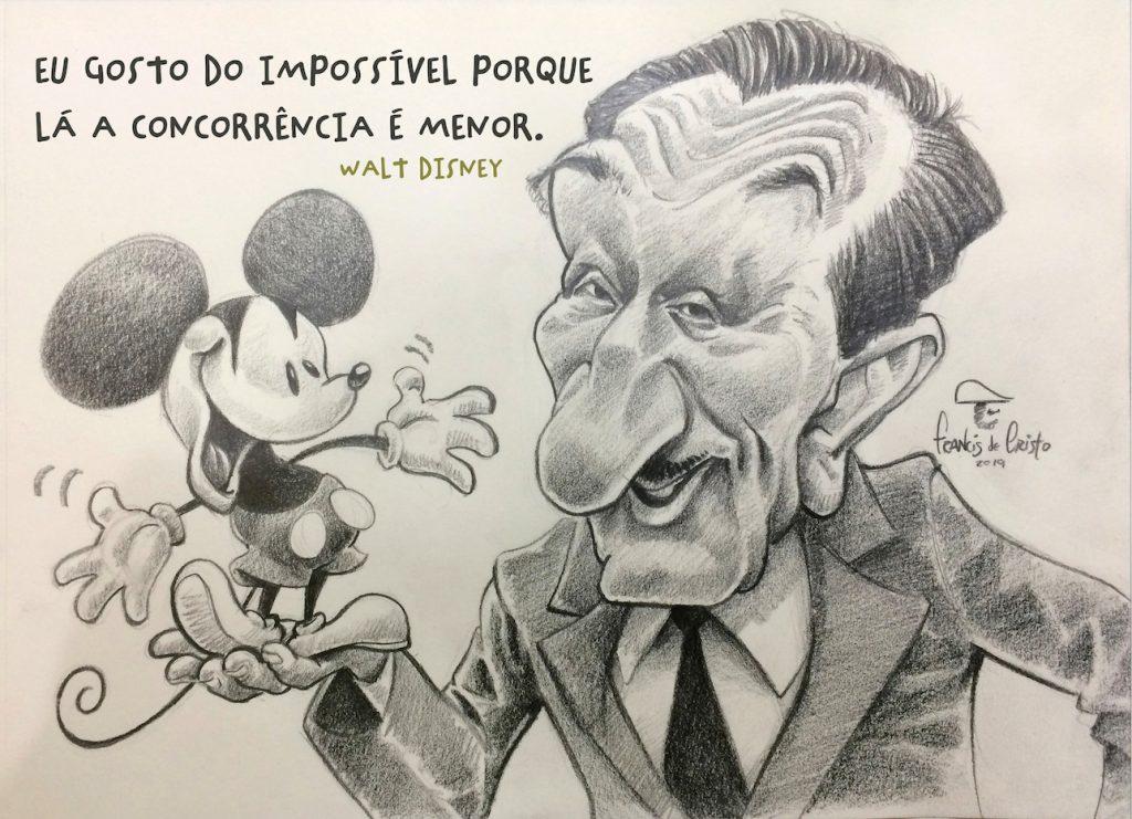caricatura de Walt Disney por Francis de cRisto