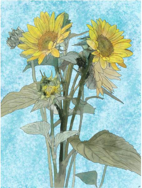 Arte feita no Adobe Fresco, o novo app de pintura e desenho para artistas.